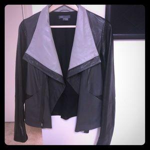 NWOT Vince Colorblock Leather Jacket